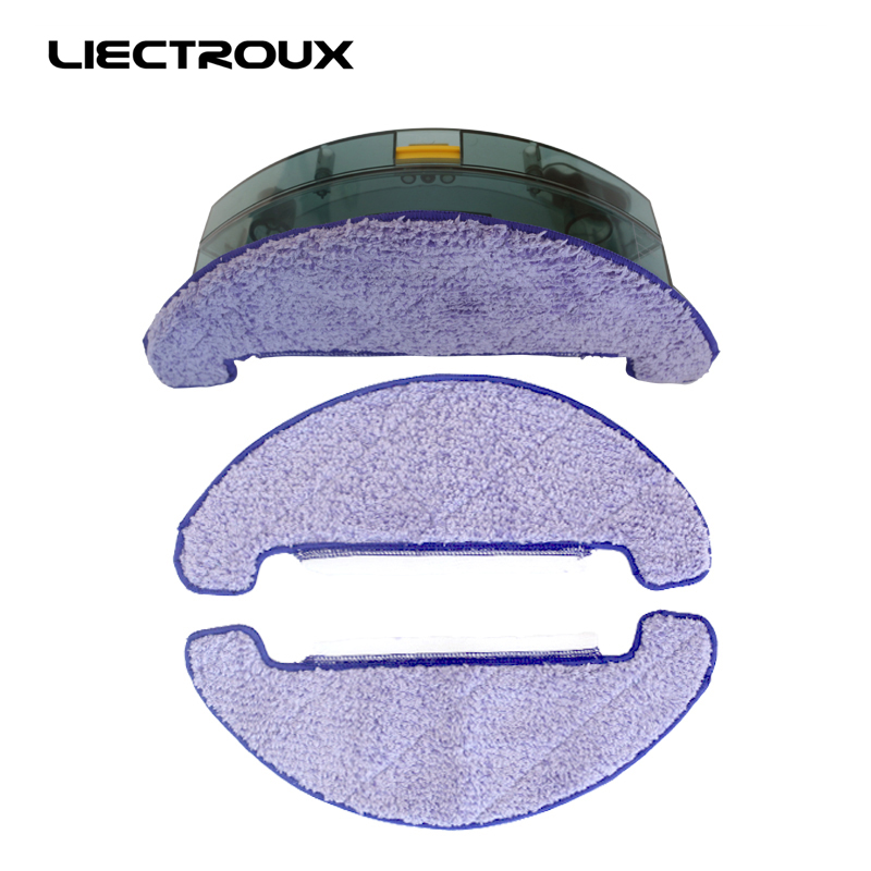 (For X5S) Liectroux Original Spare Parts for Robot Vacuum Cleaner ,Water Tank x 1pc + Mop cloth x 3pcs