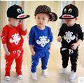 New Spring Children's Toddler Clothing Sets Girls and Boys Casual Style Clothing Long-Sleeved Kids Suits  Hoodie Suit Free P&P