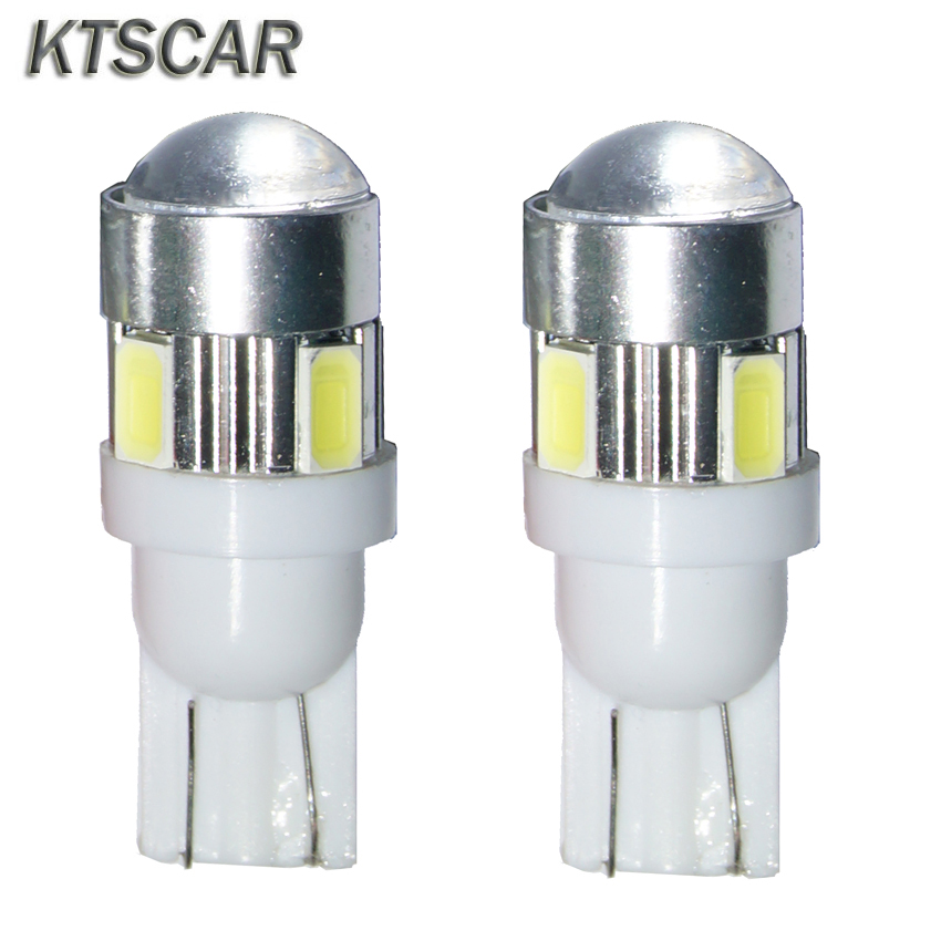 4x Bright White T10 LED W5W High Power 6 5630 SMD 5630 168 194 2825 Bulbs Led Lamp Car Parking Light License Position Light h1 super bright white high power 10 smd 5630 auto led car fog signal turn light driving drl bulb lamp 12v
