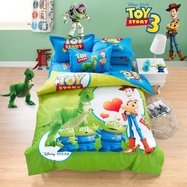 Cotton Kids Boys Toy Story Bedding Sets Duvet Quilt Cover Sets Twin
