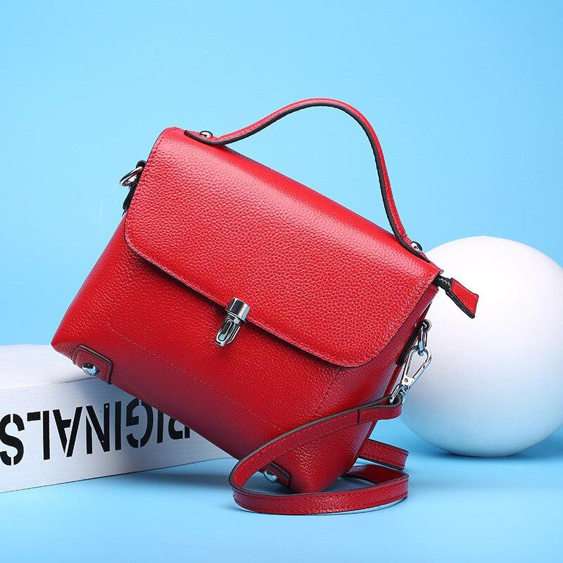 Hot Luxury Handbags Women Bags Designer Genuine Leather Shoulder Bags Women Cowhide Casual Tote Female Messenger