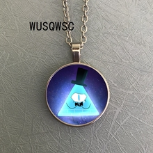 WUSQWSC The Mysterious City Series Necklace Gravity Falls Bill Cipher Boss Crystal Jewel TIME 3 Color Necklace Pocket Watch salzburg зальцбург city pocket the big five