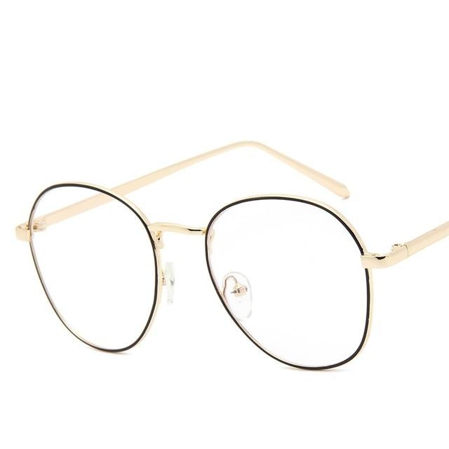 Mode Trend Gläser Frauen Sonnenbrillen , Grauer Linse / Goldrahmen