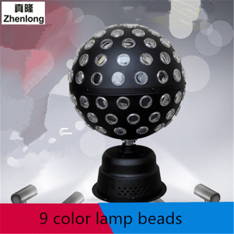 LED Stage Lighting Promise Rotating Crystal Ball Magic Lamp Sound-controlled Stage Lights Laser Flash RGB New  Ambience Light magic ball lamp voice pattern rotating colorful lights flash bar ktv laser stage lighting with sound crystal