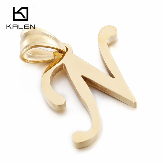 Kalen cheap 26 capital letter necklace stainless steel netherlands kalen cheap 26 capital letter necklace stainless steel netherlands gold letter n pendant with chain women aloadofball Gallery