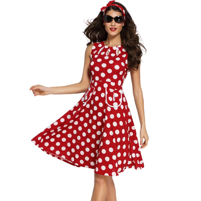 Online Get Cheap Red White Polka Dot Dress -Aliexpress.com ...