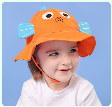 Summer Hat With Cartoon Sunhat For Children Kids Outdoor