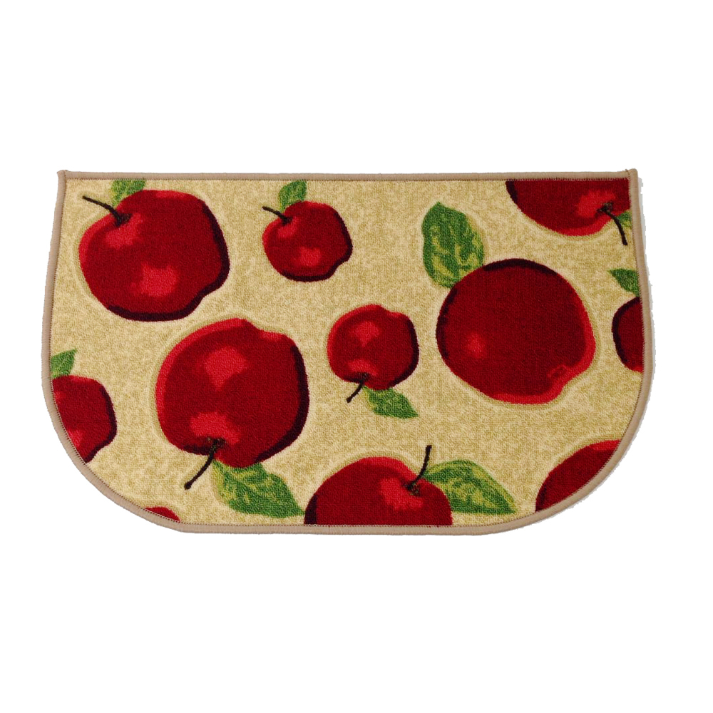 3 Pcs/2pcs/1pcs Rubber Backing Non Slip Red Apple Kitchen Rug And Carpet  Machine Washable D Ring Doormat Bathroom Foot Pads In Carpet From Home U0026  Garden On ...