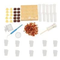 Beekeeping Queen Rearing Cup kit Box + 110x Brown Cell Cups System Cupularve Tools +5PCS High quality plastic bee