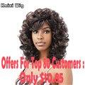 20 ''Длинные Каштановые Высокое Косплей Парик Afro Kinky Кудрявый Парик Для черный Женщин Высокого Качества Синтетические Парики Женщин Дешевые Парик Из Натуральных Волос