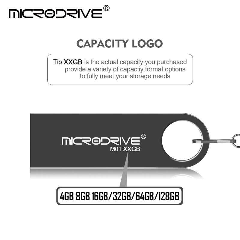 صفقة سوبر جودة عالية معدن USB 2.0 فلاش محرك 128GB 64GB 32GB 16GB 8GB البسيطة بندريف الذاكرة USB عصا شحن كيرينغ حملة القلم