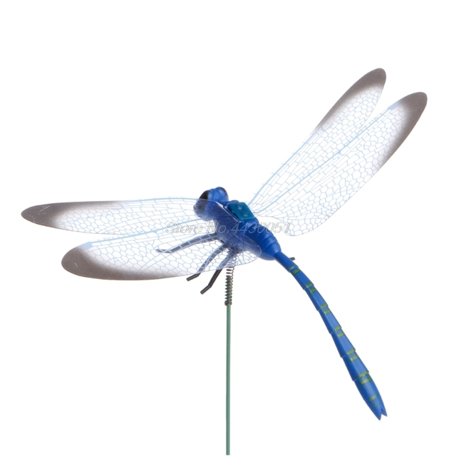 Colorful Fairy Dragonfly On Stick Ornament Home Garden Vase Lawn Art Craft Decor