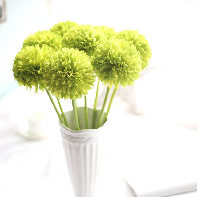8pc real touch hydrangea aritifical flowers small green onion ball 8pc real touch hydrangea aritifical flowers small green onion ball green ball onion flower home wedding mightylinksfo Image collections