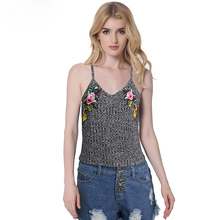 Bralette Tops Women 2017 Summer Embroidery Solid Camis Sexy Brandy Melville Sleeveless Strap Tank Top Women Bustier Cropped