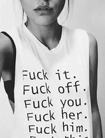 Good Girls Don T Make History Casual Women Sexy Tank Top Fashion Sleeveless Vest Letter Printed