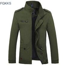 FGKKS 패션 브랜드 남자 얇은 자 켓 2020 가을 남성 고품질 캐주얼 자 켓 남자 솔리드 컬러 자 켓 코트