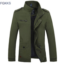 FGKKS Fashion Brand Men Thin Jackets 2019 Autumn Male High Quality Casual Jacket Men's Solid Color Jackets Coats(China)