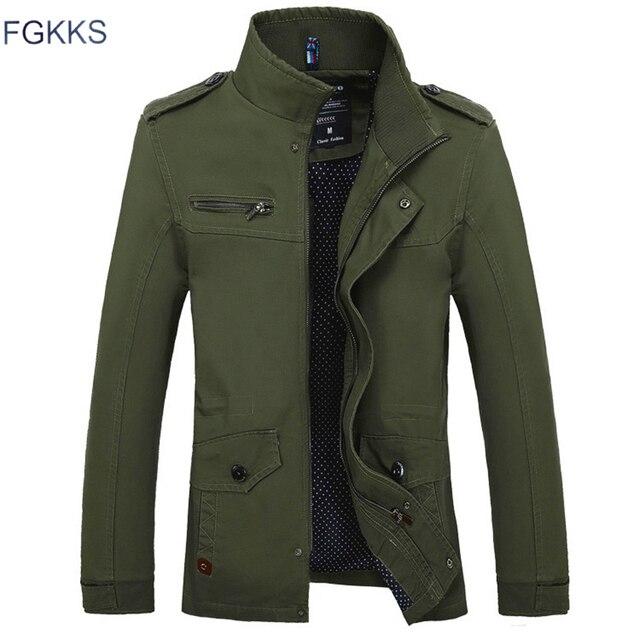 FGKKS marque de mode hommes vestes minces 2020 automne mâle haute qualité décontracté hommes couleur unie vestes manteaux