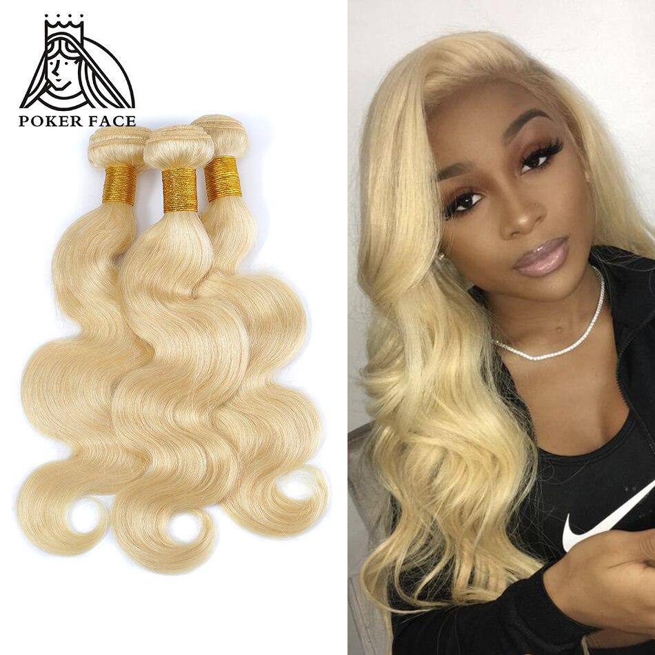 Poker Face 613 Blonde Body Wave Bundles Brazilian Hair Weave Bundles 100% Remy Human Hair 1 Or 3 Bundles Can Buy 8-30 inch