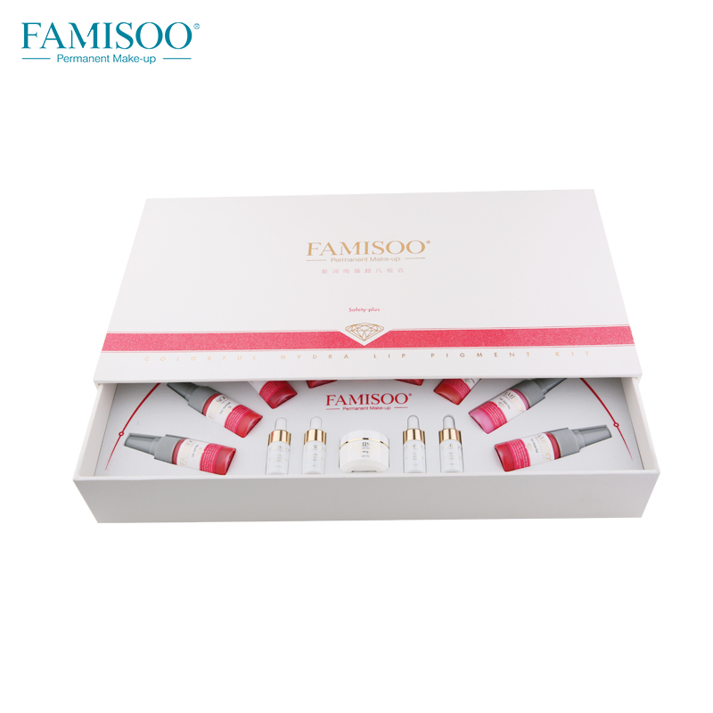 FAMISOO 14pcs set Pigment For Permanent Makeup Easy To Wear Micro Pigment Lip Body Tattoo Art Beauty Tools Ink Red Rose in Tattoo Inks from Beauty Health