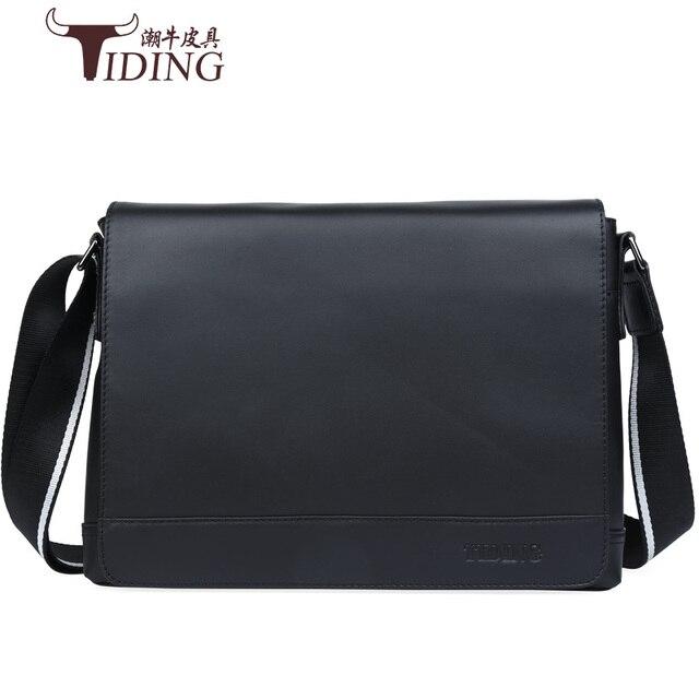 0d455b44e248 Men s 100% Genuine Cowhide Leather Shoulder Bag