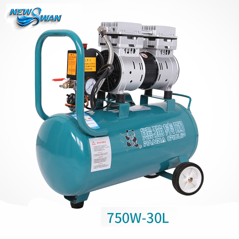 Oil - free Air Compressor High - pressure Gas Pump Spray Woodworking Air compressor small pump 750W30L tdoubeauty dental greeloy silent oil free air compressor ga 62 free shipping
