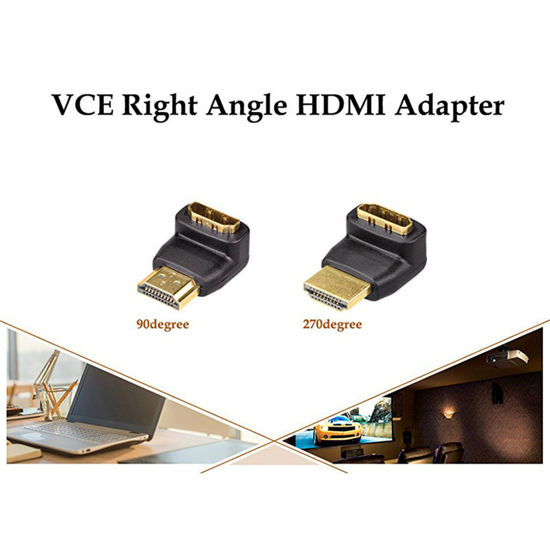 HTB1HbbVinnI8KJjSszgq6A8ApXaV HDMI Cable Adapter Converters 270/90 Degree Angle HDMI Male to HDMI Female for 1080P HDTV Cable Adaptor Converter Extender