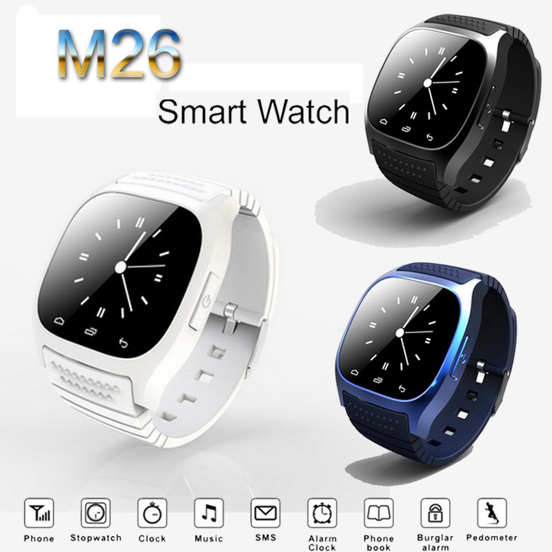 bluetooth smart watches m26 for android smart watch for. Black Bedroom Furniture Sets. Home Design Ideas