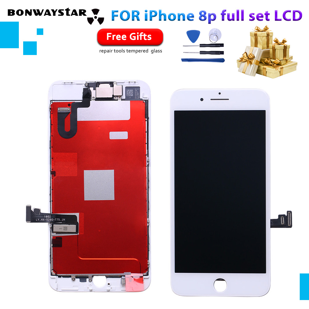3D Touch Screen For iPhone 8 Plus 8p LCD Display Touch No Dead Pixe Screen Digitizer Assembly Complete  LCD front camera +tools3D Touch Screen For iPhone 8 Plus 8p LCD Display Touch No Dead Pixe Screen Digitizer Assembly Complete  LCD front camera +tools