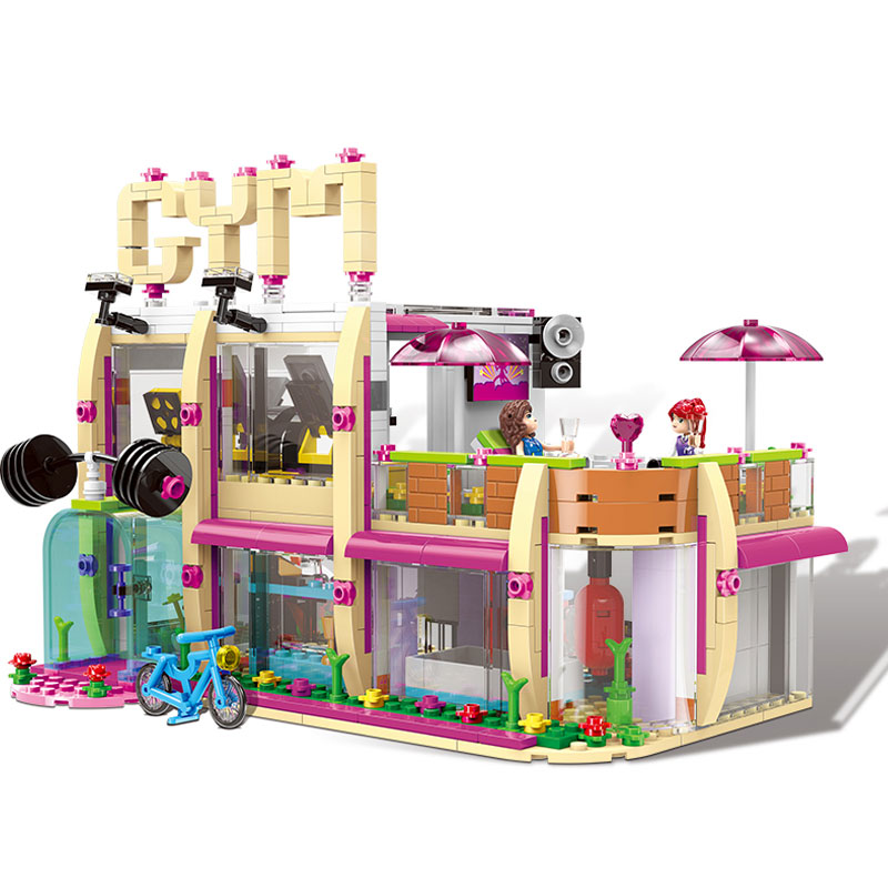XINGBAO 12002 City Girl Series New The Gym Club Set Building Blocks Bricks Toys legoinglys Model For Children As New Year Gifts elixir 12002