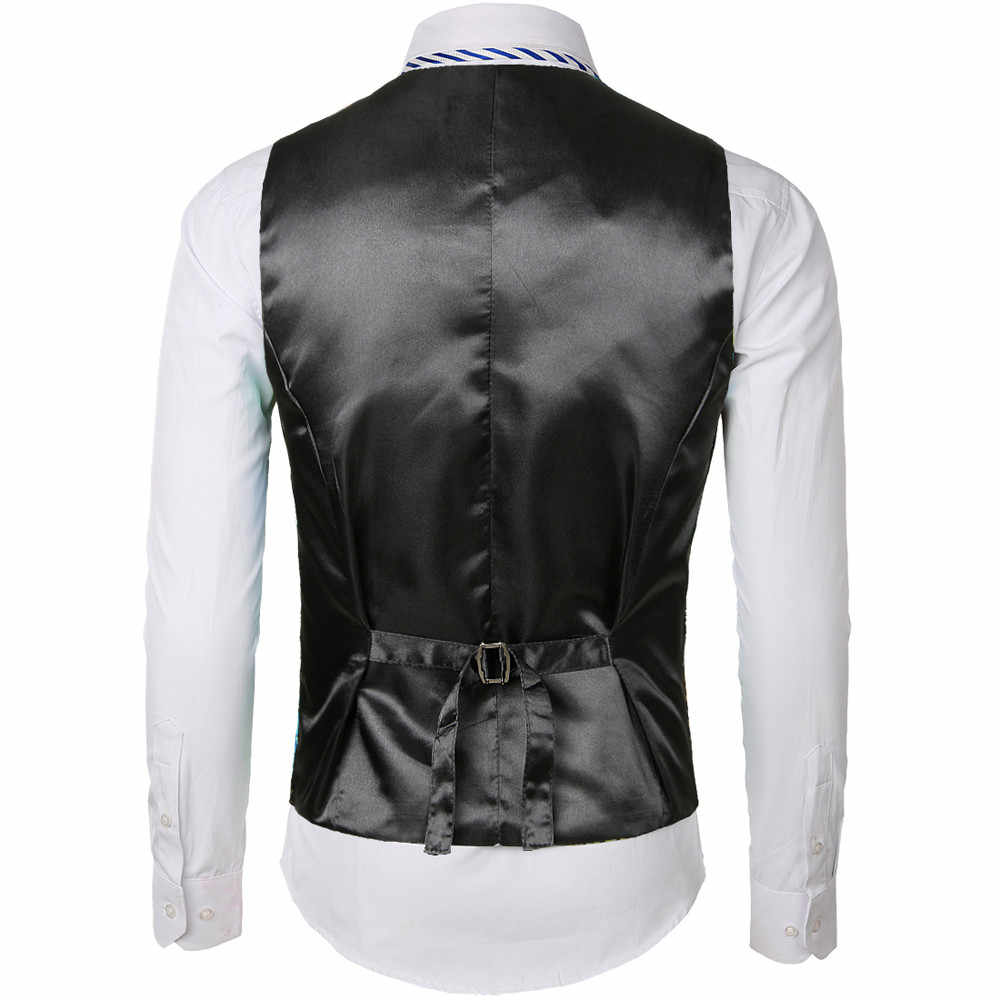 91e9845323da3 ... men vest jacket 2019 Fashion Business Casual Gold Stamping Flower Printing  Waistcoat Tops Vest chalecos para ...