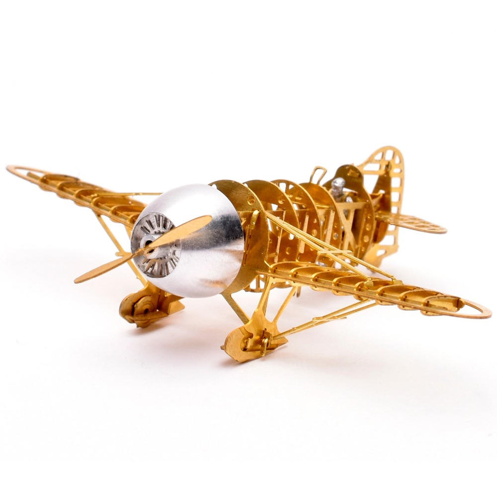 US $13 99 20% OFF|1/160 Scale Brass Etched Model Kit Gee Bee Racer R 2  Airplane 3D DIY Metal Puzzle Miniature Toy Adult Hobby Splicing Science-in