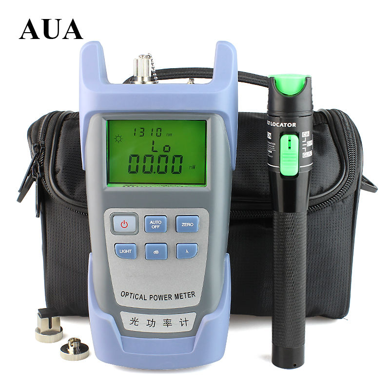 20mW Visual Fault Locator Fiber Optic Cable Tester and Optical Fiber Power Meter (-70~+10dBm) Fiber Optic Power 10-20Km test pen