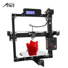 Анет автоматическое выравнивание A2 штекер алюминиевый 3D принтер ЖК-дисплей 2004 220*270*220 мм/220*270*220 мм 3D комплект принтера DIY с 10 м нити