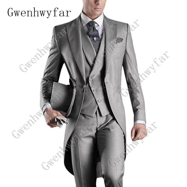 Italian-Men-Tailcoat-Gray-Black-White-Wedding-Suits-For-Men-Groomsmen-Suits-3-Pieces-Peaked-Lapel (3)