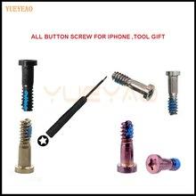 YUEYAO 5Set 7 7Plus 6s 6 Plus 5 5s Torx Schraube 5 Punkt Stern Pentalobe Bottom schrauben Für iPhone 5 5S 5C (10 PCS) + 1PCSTool