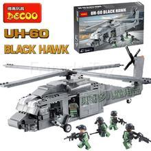562 sztuk UH-60 śmigłowiec Black Hawk wojny SWAT budowlanych do budowy modeli z tworzywa sztucznego klocki kompatybilne z Lego tanie tanio Samozamykajcy cegły 6 lat Choking Small parts Not for Children under 6 years 2214 Chłopcy Bloki ENLIGHTEN
