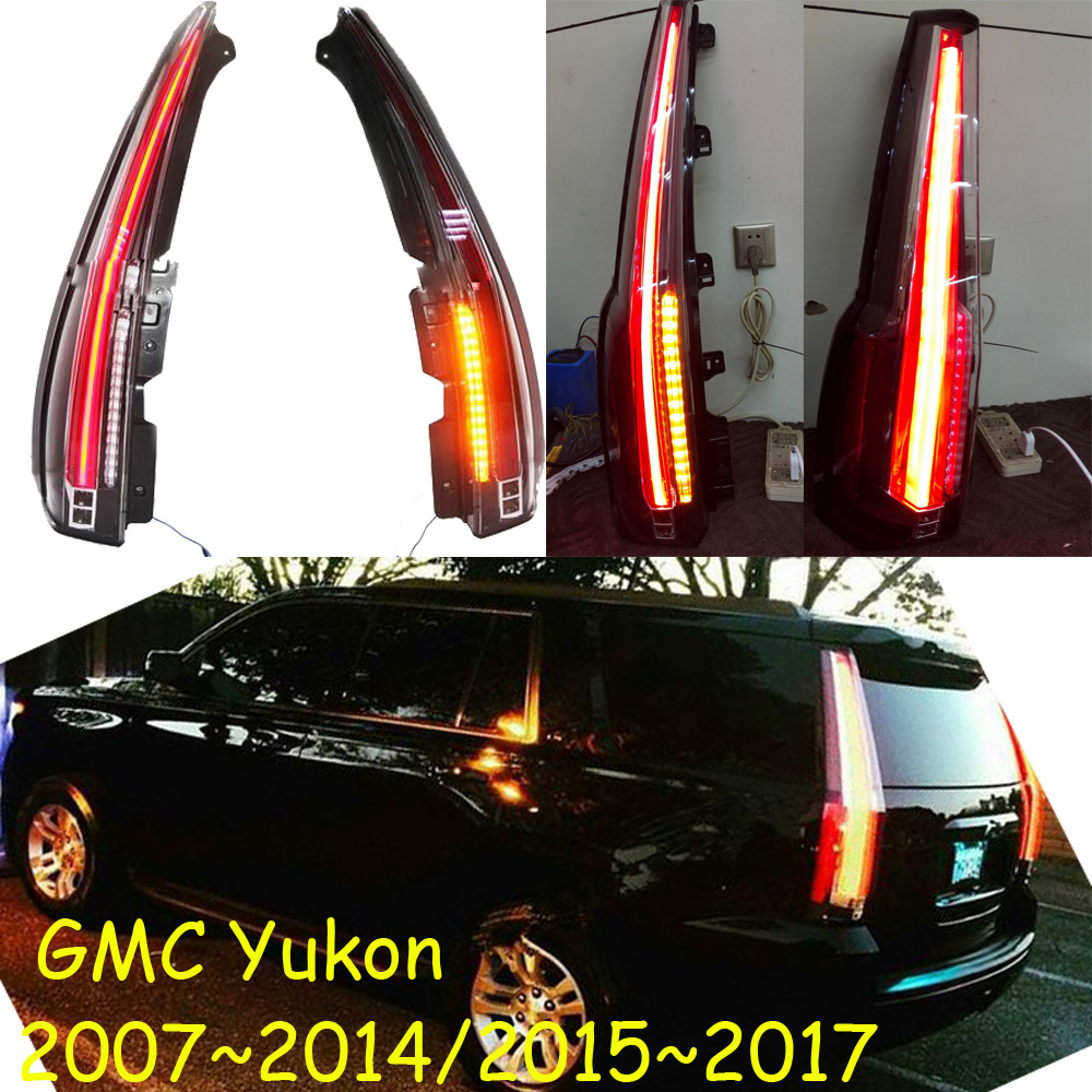 Yukon taillight,2015~2017/2007~2014 ;Free ship!LED,2pcs/set,Yukon rear light,Yukon fog light;Yukon tail lamp car styling yukon taillight 2015 2017 2pcs set led free ship yukon fog light chrome yukon tail lamp car detector yukon