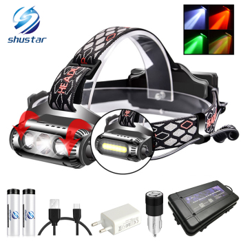 цена USB Rechargeable LED Headlamp Rotatable lamp holder 8 Light Mode LED COB Super Bright Headlights Waterproof онлайн в 2017 году