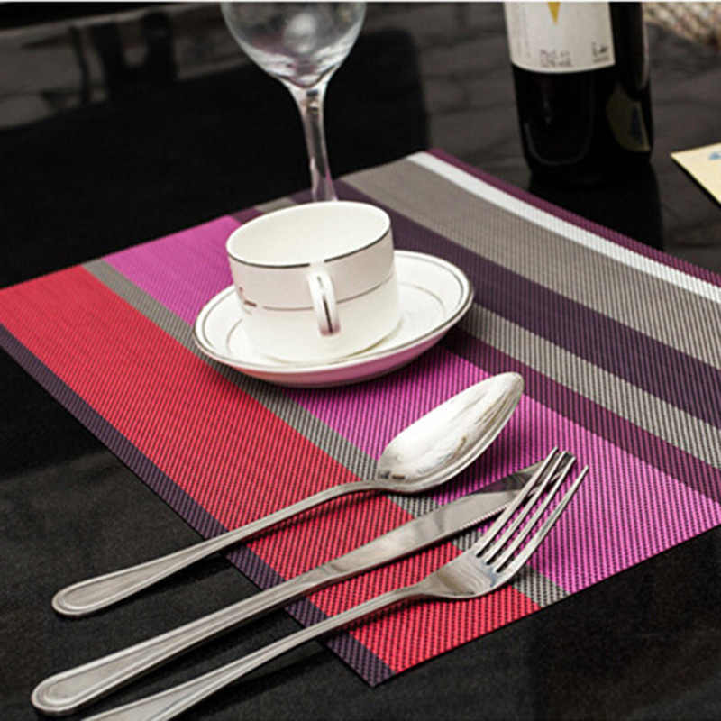 Kitchen Accessories 5 Color Silicone Pvc Placemat Dining Table Mat Pad Placemats for Table Waterproof Heat Insulation Placemats