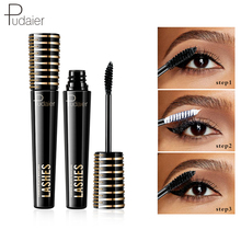 Pudaier New Arrival 4D Silk Fiber Eyelash Mascara Long Curling Black Waterproof Lasting Natural Eye Lashes Makeup
