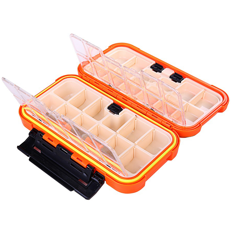 20CM Fishing Tackle Box 28 Grids Compartments 4Color Fish Lure Line Hook Fishing Tackle Fishing Accessories Box 4