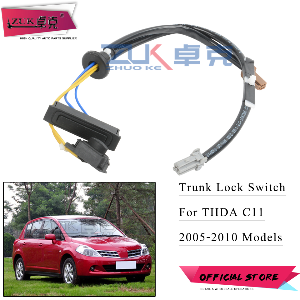 ZUK Luggage Switch Button Trunk Lock Release Switch For Nissan For Tiida Versa Latio C11 2005 2006 2007 2008 2009 2010
