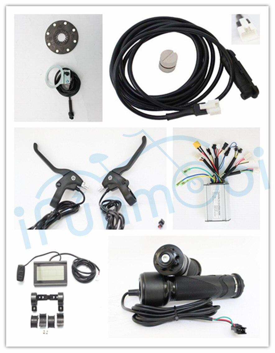 Kits de contrôleur de vélo électrique 24/36 V Ebike avec 250 W/350 W régénératif et inverse + kits d'accélérateur de PAS d'affichage à cristaux liquides