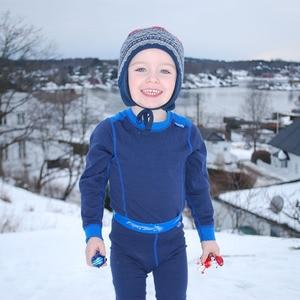 Image 3 - 100% Merino wol thermische kids sport ondergoed set super Zachte winter jongens meisjes kinderen lange onderbroek