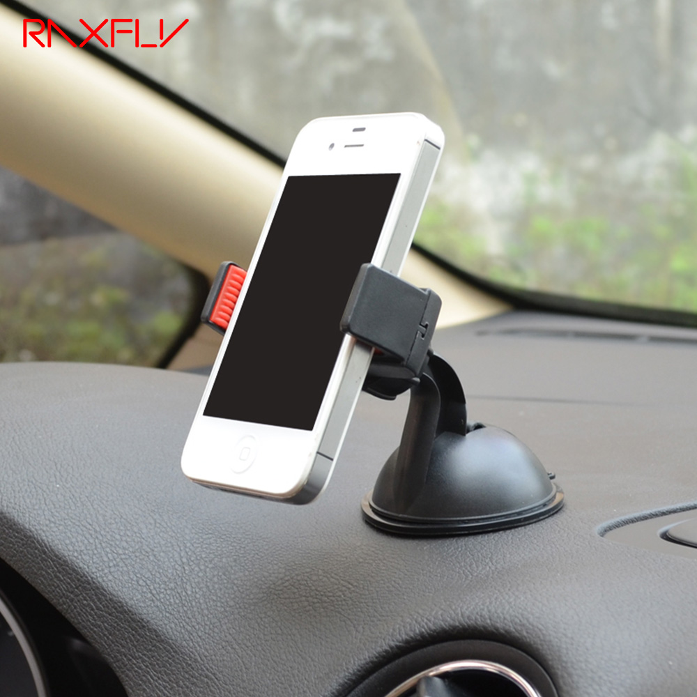 RAXFLY Adjustable 360 Degree Rotating Car Holder Sucker Universal Use Phone Holder Stand For iPhone 8 7 6s 6 For Samsung Bracket