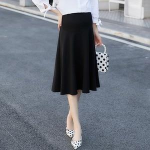 Image 2 - 2020 חדש אופנה קוריאנית גרסה של למתוח יולדות חצאית הרמת בטן חצאית חצאית שמלה