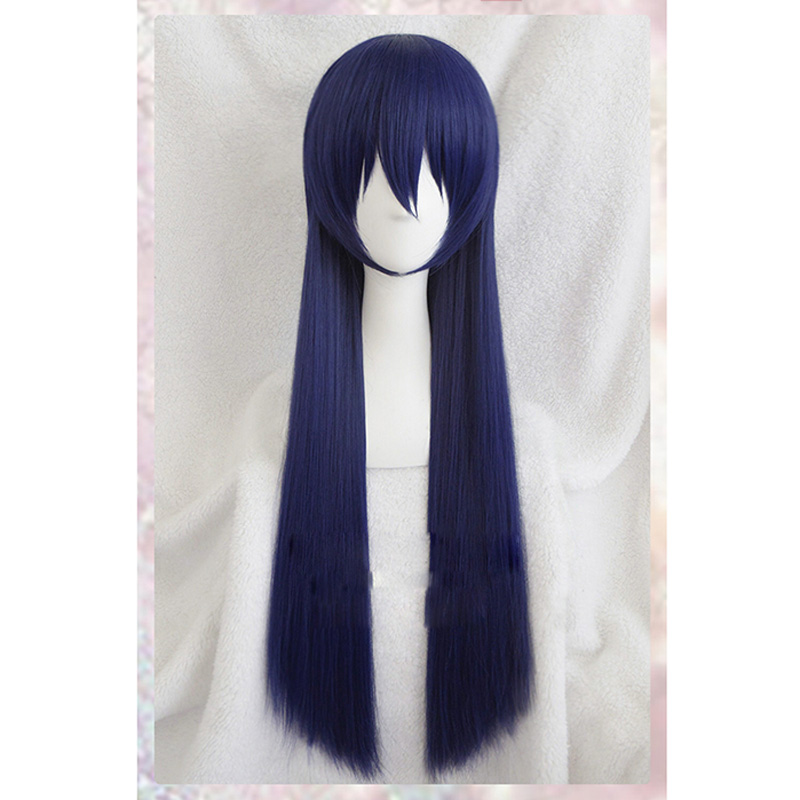 Love Live Sonoda Umi Long Cosplay Wigs Blue Purple color Heat Resistant Synthetic Hair Perucas Cosplay Wig+ wig cap
