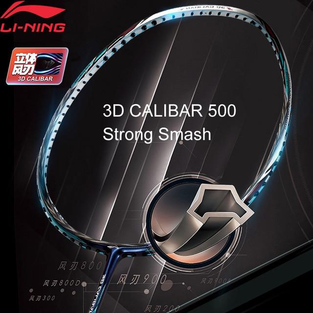 Li-Ning 3D CALIBAR 500 Badminton Racket Strength Type Single Sport Racket No String AYPM388 EAMJ18