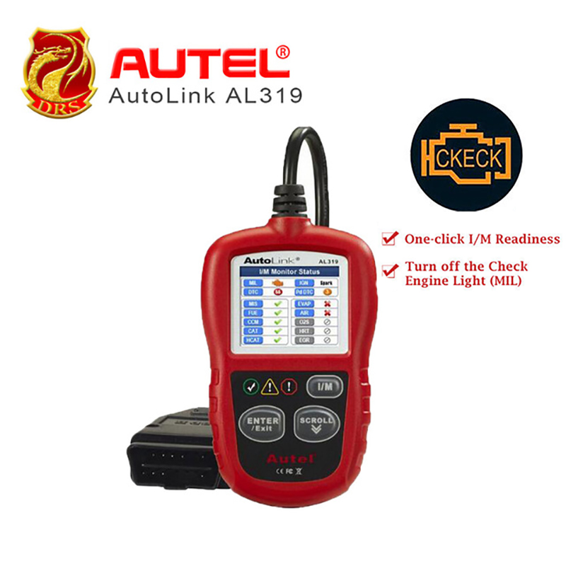 Autel AutoLink AL319 Auto Diagnostic Tool DIY Code Reader OBD2 Code Scan Tool View Freeze Frame Data Diagnostic-tool Car Scanner свитер blugirl свитер